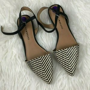Lucky Brand Woven Pointed Toe Sandals